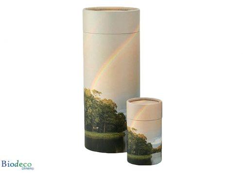 Strooikoker Regenboog in mini- en standaardformaat, voor het verstrooien van crematie-as