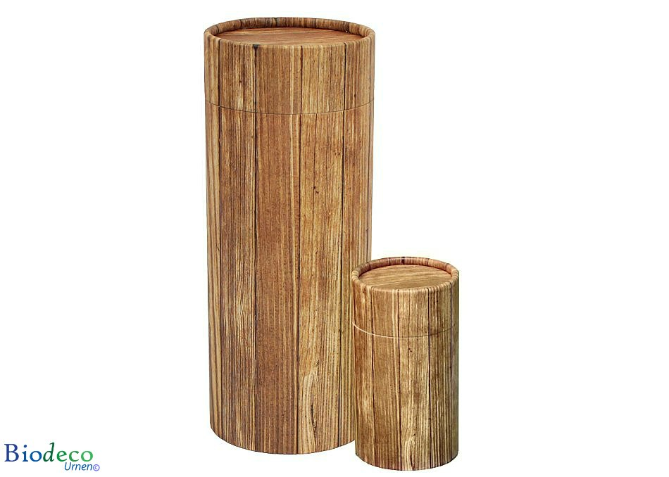 Strooikoker Timber in mini- en standaardformaat., voor het verstrooien van crematie-as