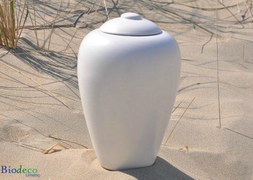 Zee-urn Classic Parel ,biologisch afbreekbare urn in het duinzand