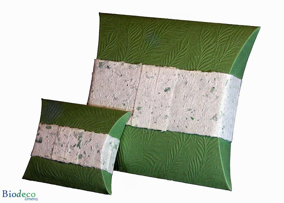 zee-urn mini journey reliëf groen varenblad voor asbijzetting in het water