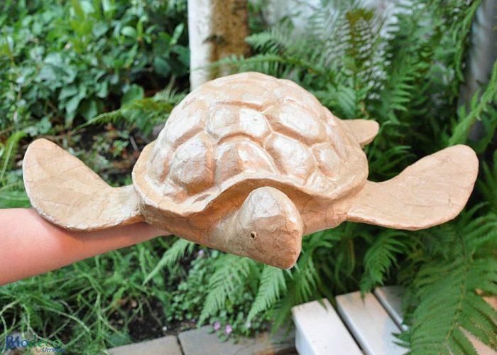 Biologisch afbreekbare zee-urn Schildpad, op de hand gedragen