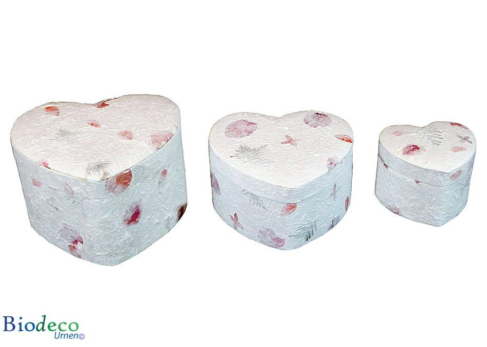 De Hart-urn Bloemen in drie verschillende maten, mini, standaard en duo,voor asbijzetting in de aarde