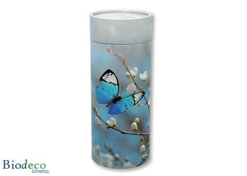 Strooikoker Vlinder Bloesem in de standaard maat, voor de crematie-as van een volwassen persoon